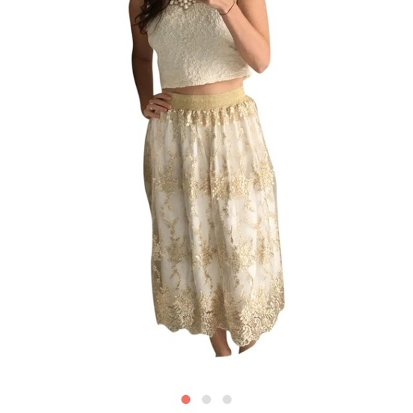 cc8c572f1 Badgley Mischka Skirts | Belle Crop Top And Skirt | Poshmark